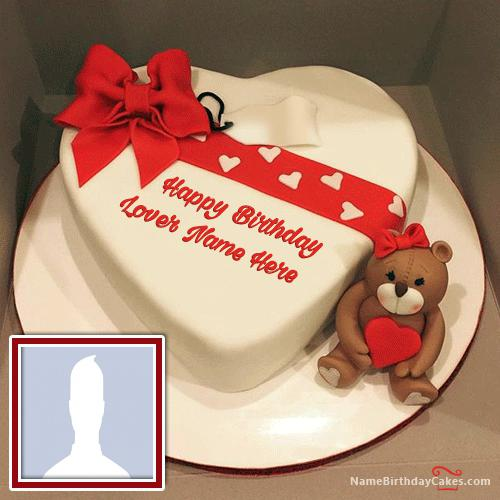 Happy Birthday Cakes For Lover With Name: Love Happy Birthday Cake With Name