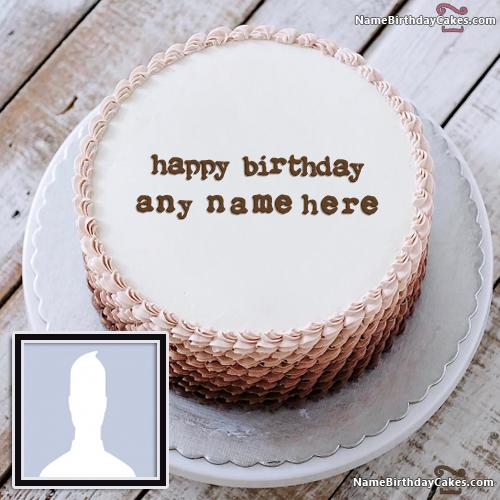 Name On Happy Birthday Cake For Boys With Name & Photo