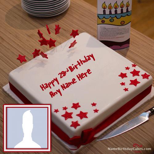 Red 23rd Birthday Cake