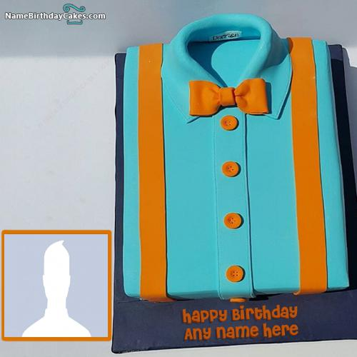 Shirt Cake For Boys On His Birthday With Name And Photo & Photo