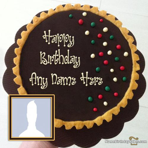 Special German Chocolate Cake For Friends Birthday With Name & Photo