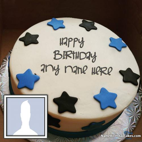 Star Butter Cake For Boys Happy Birthday Wishes With Name & Photo