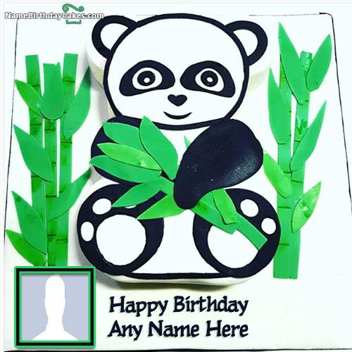 Teddy Bear Cake For Kids Birthday With Name And Photo