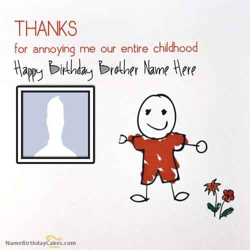Thanks Birthday Card for Brother