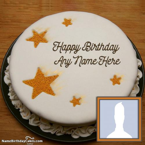White Chocolate Cake For Brother Birthday Wishes - Name+Photo