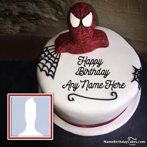 Write Name On Spiderman Birthday Cake