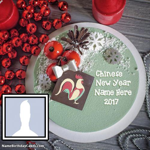 Year Of The Rooster Chinese New Year Cake With Name & Photo
