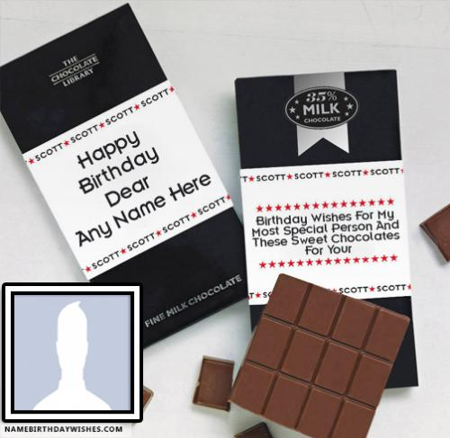 Yummy Chocolates Birthday Wishes For A Friend With Name & Photo
