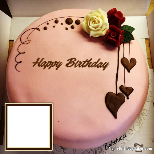 Swell Happy Birthday Chocolate Cake With Name Edit And Photo Funny Birthday Cards Online Fluifree Goldxyz