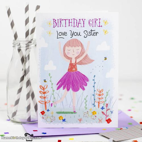 Sister Birthday Ecards 2 - Download & Share