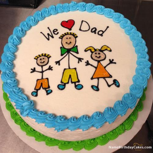 Happy Fathers Day Cake With Name