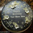 Black German Chocolate Cake For Wife Birthday Wish