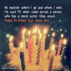 Candles Cute Birthday Wish