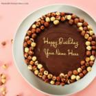 Chocolate Nuts Birthday Cake For Friend