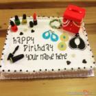 Cosmetics Happy Birthday Cake For Girls