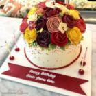 Creative Roses Birthday Cake