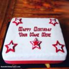 Decorated Fondant Cake For Boys Birthday Wish