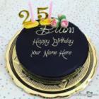 Decorated Happy 25th Birthday Cake