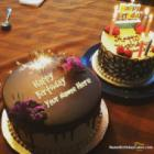 Fireworks Candles Chocolate Cake For Happy Birthday