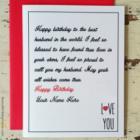 Love Birthday Card for Husband