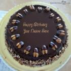 Nuts Birthday Cake For Friend