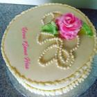 Romantic Rose Birthday Cakes With Name And Photo
