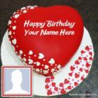Romantic Birthday Image Of Cake With Name