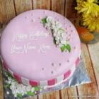 Rose Pink Bday Cake for Friends