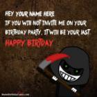 Scary Funny Birthday Wish