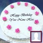 Special Happy Birthday Mother Cake With Name And Photo