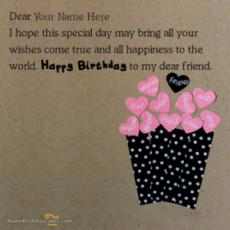 Best Happy Birthday Wish For Friends With Name