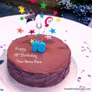 18th Chocolate Birthday Cake With Name