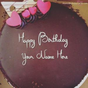 Amazing Chocolate Birthday Cake For Lover With Name