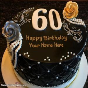 Awesome Decorated Chocolate 60th Birthday Cakes With Name