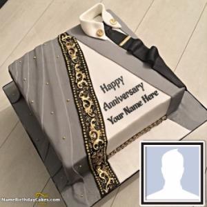 Beautiful Anniversary Cake With Name