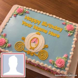 Beautiful Cinderella Birthday Cake For Kids