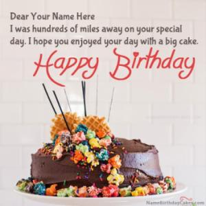 Belated Happy Birthday Wishes With Name