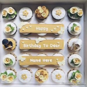 Best Happy Birthday Cupcake For Friends With Name