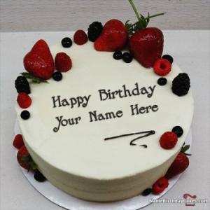 Best Strawberry Cake For Boys Happy Birthday Wish With Name