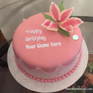 Best Strawberry Cake For Happy Birthday With Name