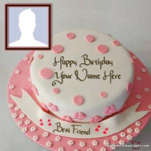 Birthday Cake For Boyfriend With Name and Photo