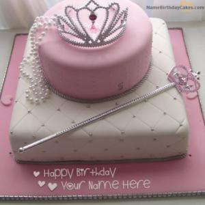 Get Princess Birthday Cake With Name