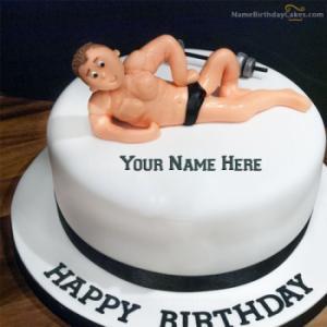 Birthday Cake For Gym Boys With Name
