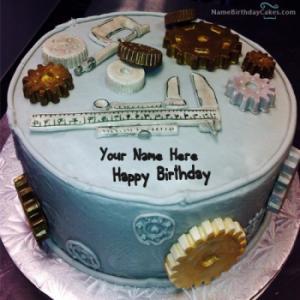 Birthday Cake For Mechanical Engineer With Name