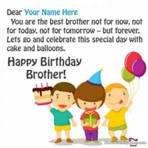Happy Birthday Images For Brother With Name