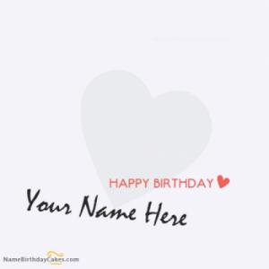 Heart Birthday Card for Lover With Name