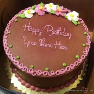 Awesome Happy Birthday Cake With Name And Photo