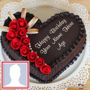 Chocolate Happy Birthday Name Cake
