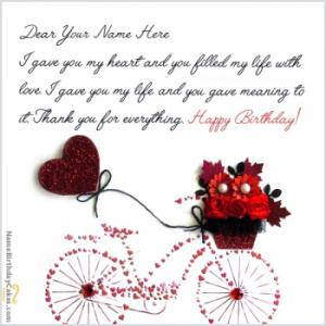 Birthday wishes for husband with photo and name editor cool birthday card for husband with name m4hsunfo