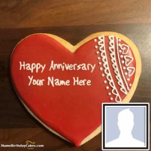 Create Wedding Anniversary Cake With name